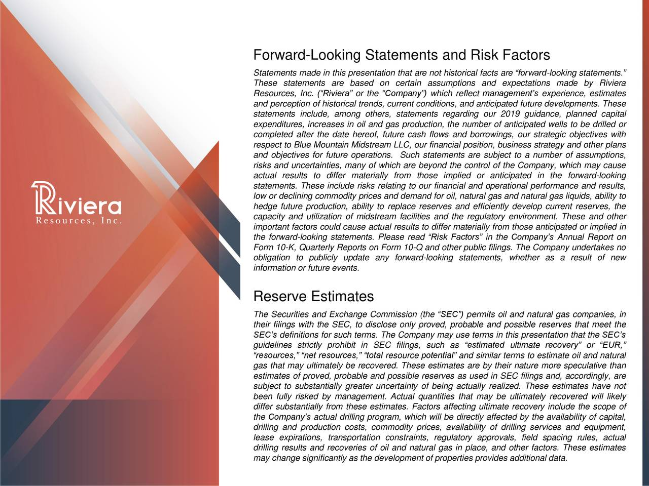 Forward-Looking Statements and Risk Factors