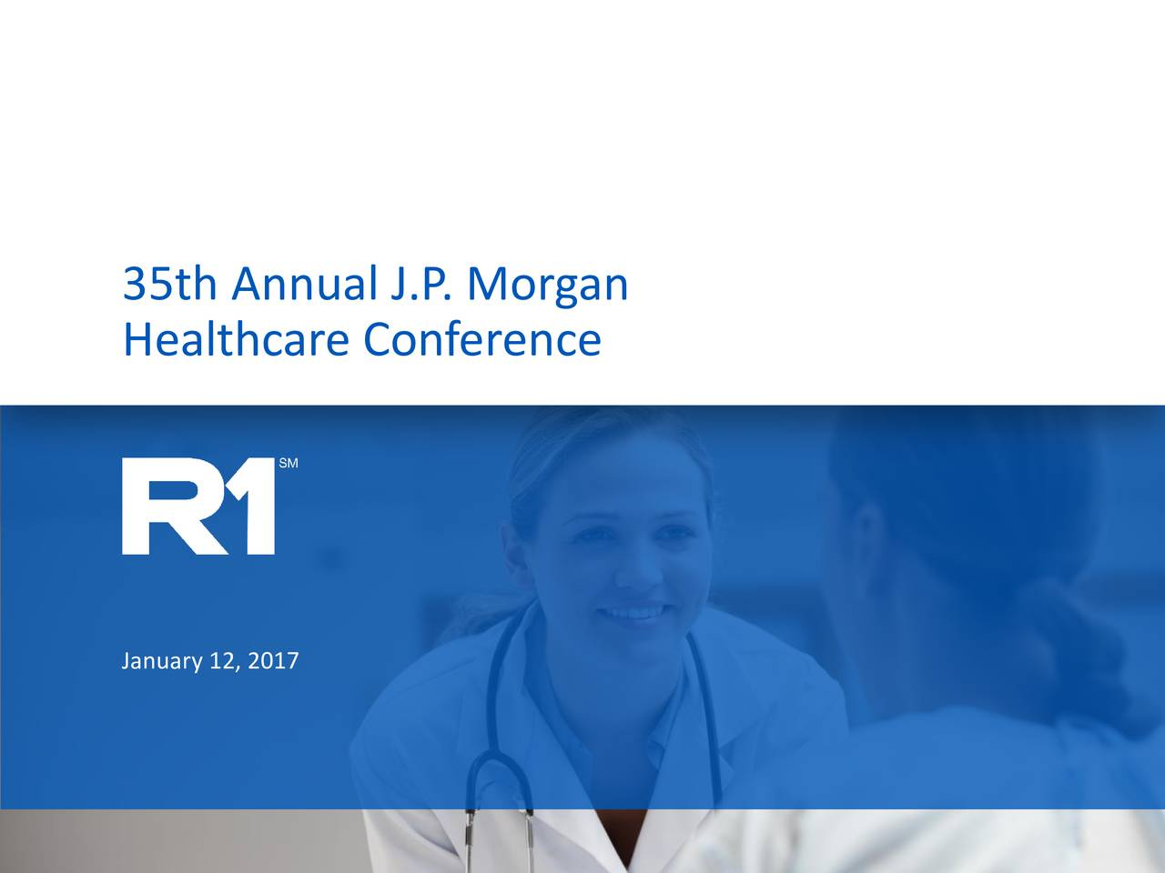Healthcare Conference January 12, 2017