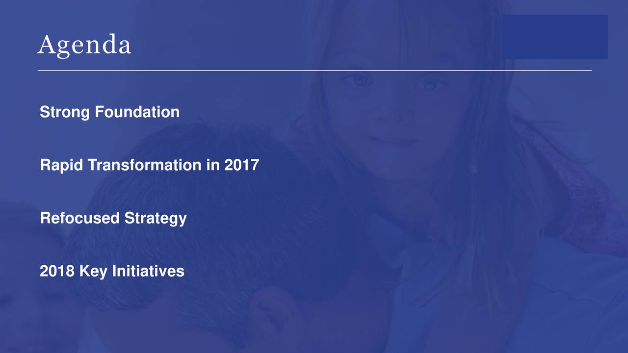 Strong Foundation Rapid Transformation in 2017 Refocused Strategy 2018 Key Initiatives