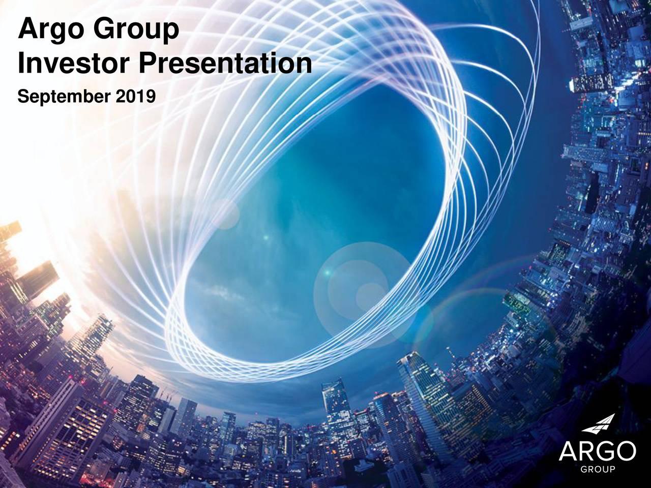 Argo Group (ARGO) Investor Presentation - Slideshow