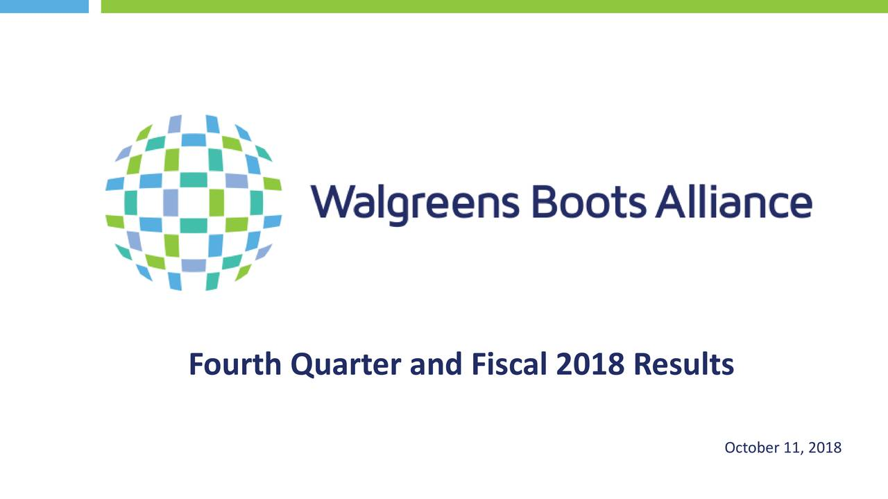 Walgreens Boots Alliance Inc 2018 Q4 Results Earnings Call