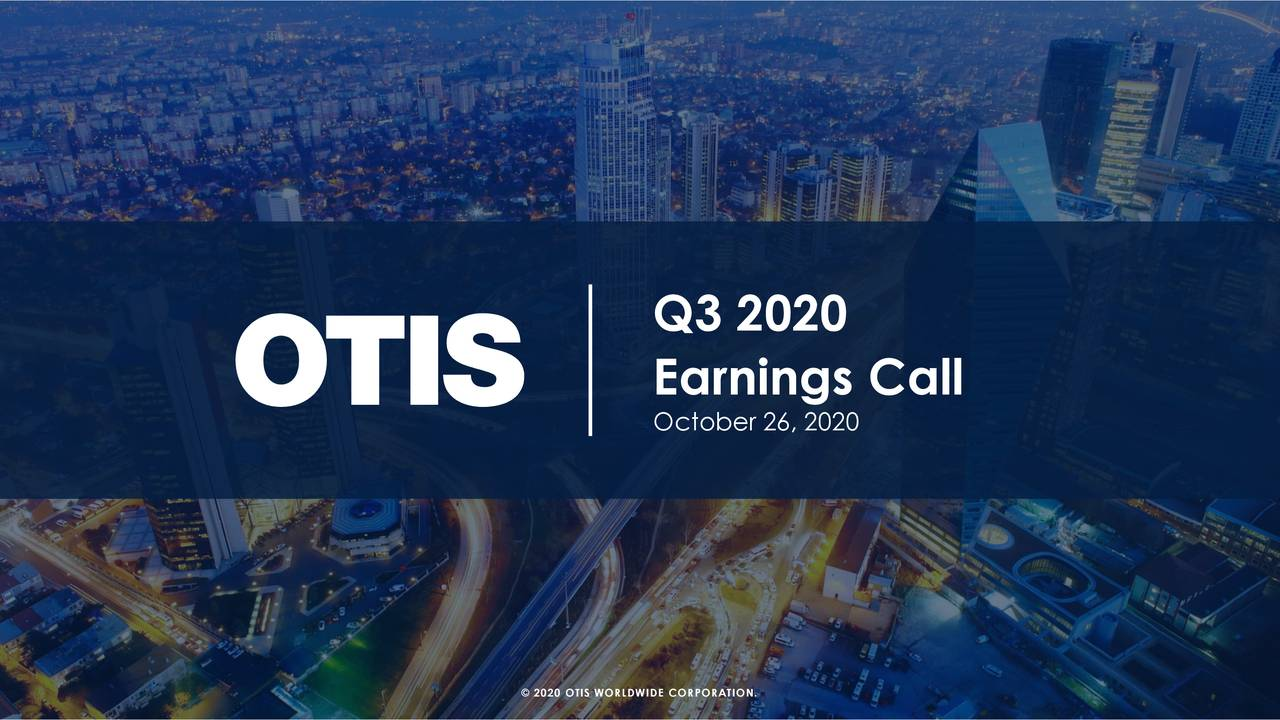 Otis Worldwide Corporation 2020 Q3 - Results - Earnings Call Presentation (NYSE:OTIS)