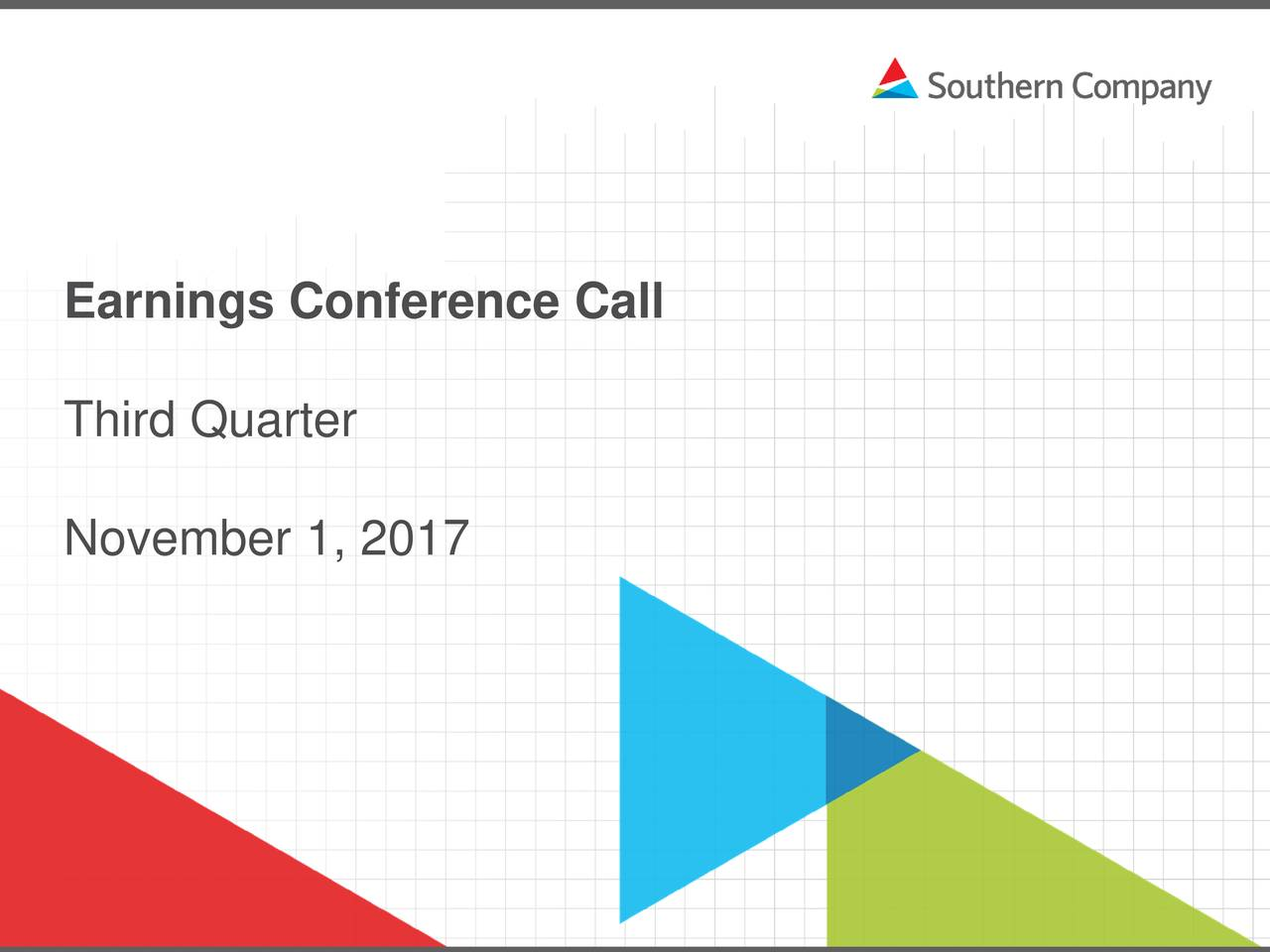 Earnings Call Slides: Southern Company 2017 Q3