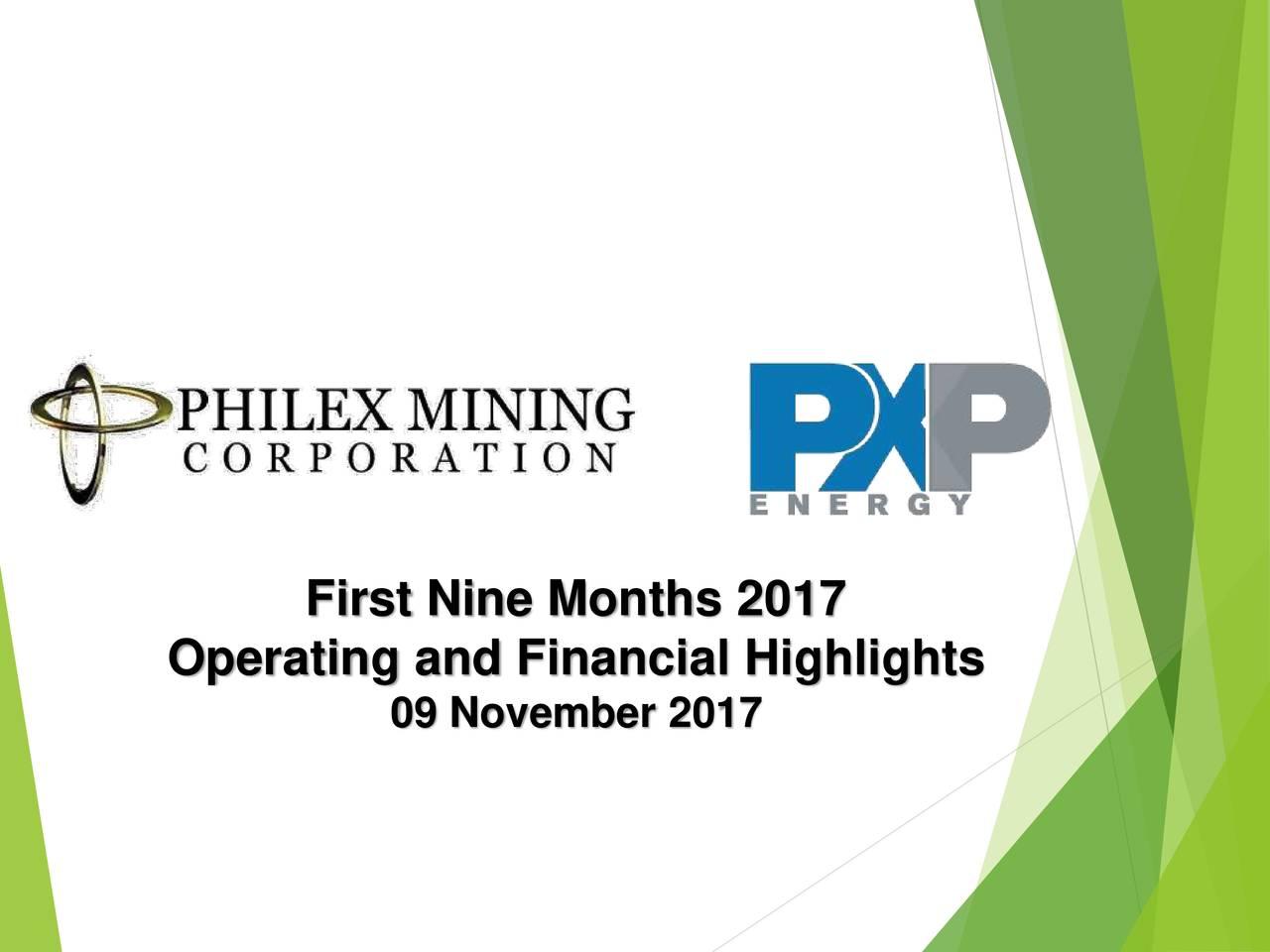 Operating and Financial Highlights 09 November 2017