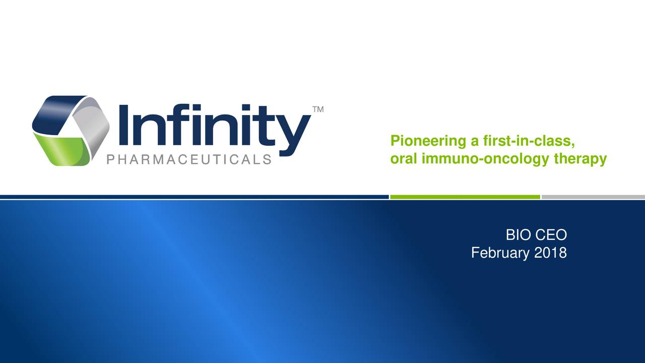 oral immuno-oncology therapy BIO CEO February 2018