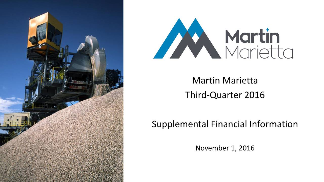 Third-Quarter 2016 Supplemental Financial Information November 1, 2016