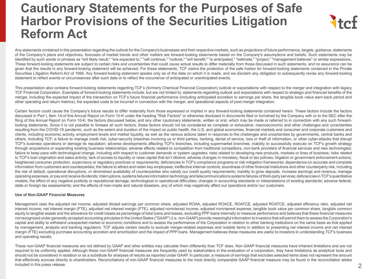 Declaraciones de precaución a los fines de la seguridad