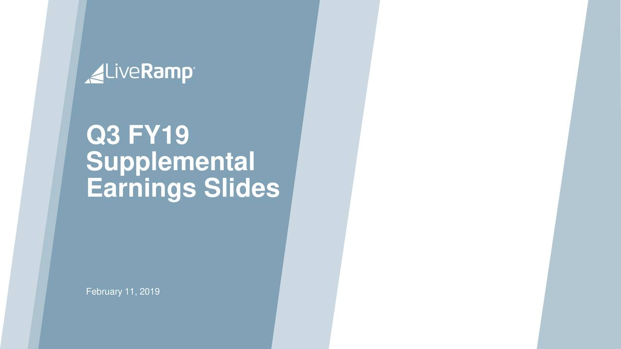 Supplemental Earnings Slides February 11, 2019
