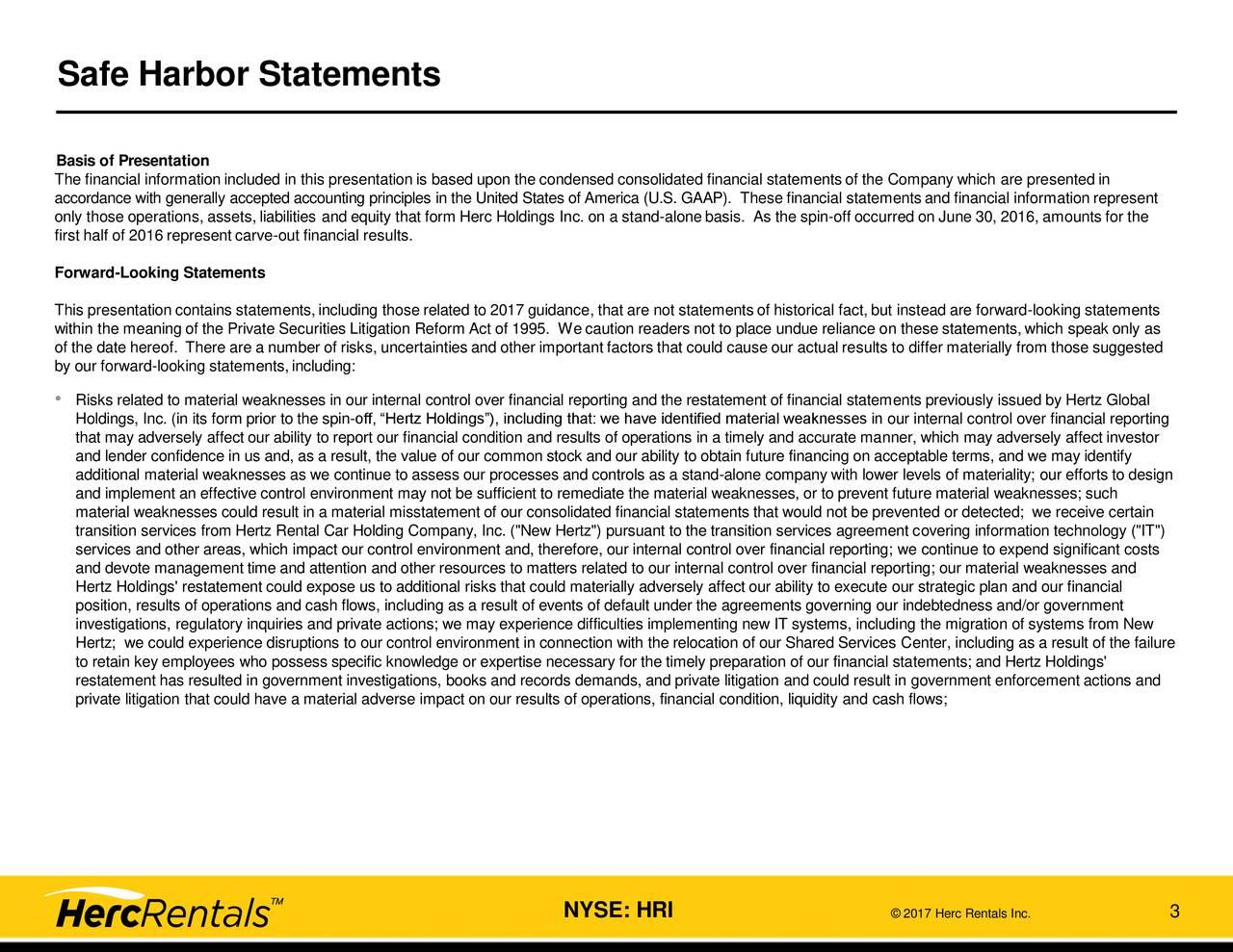 Financial Risks For Hertz Car Rental