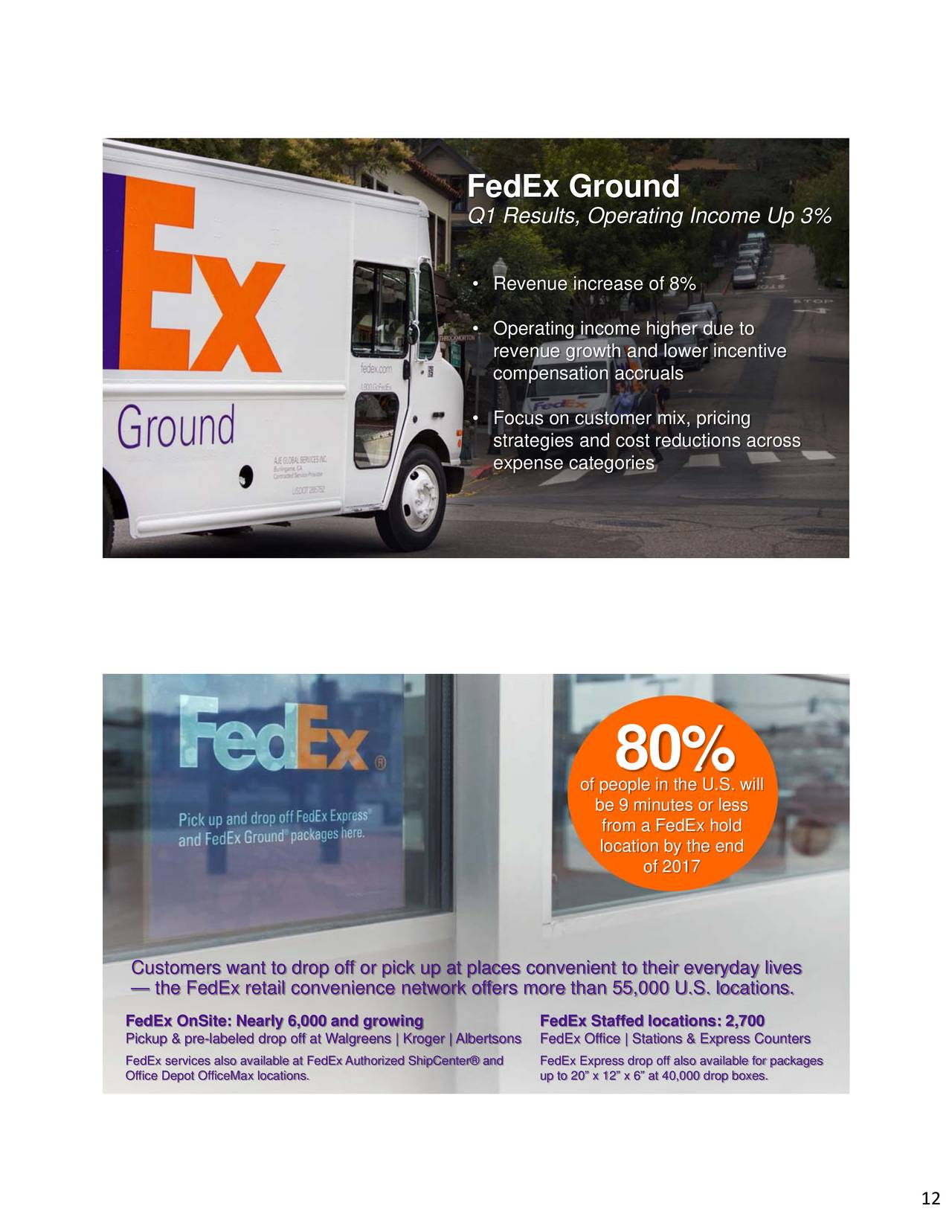 FedEx Corporation 2018 Q1 - Results - Earnings Call Slides