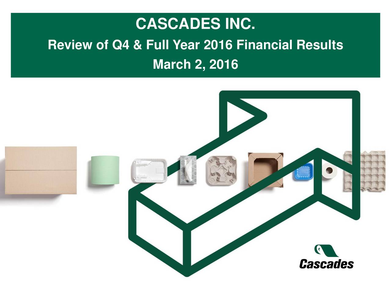 Review of Q4 & Full Year 2016 Financial Results March 2, 2016
