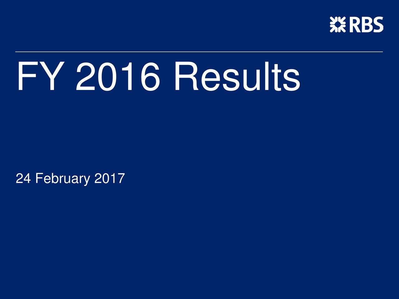 the royal bank of scotland group plc 2016 q4 results earnings
