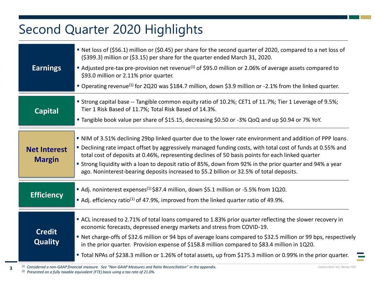Second Quarter 2020 Highlights