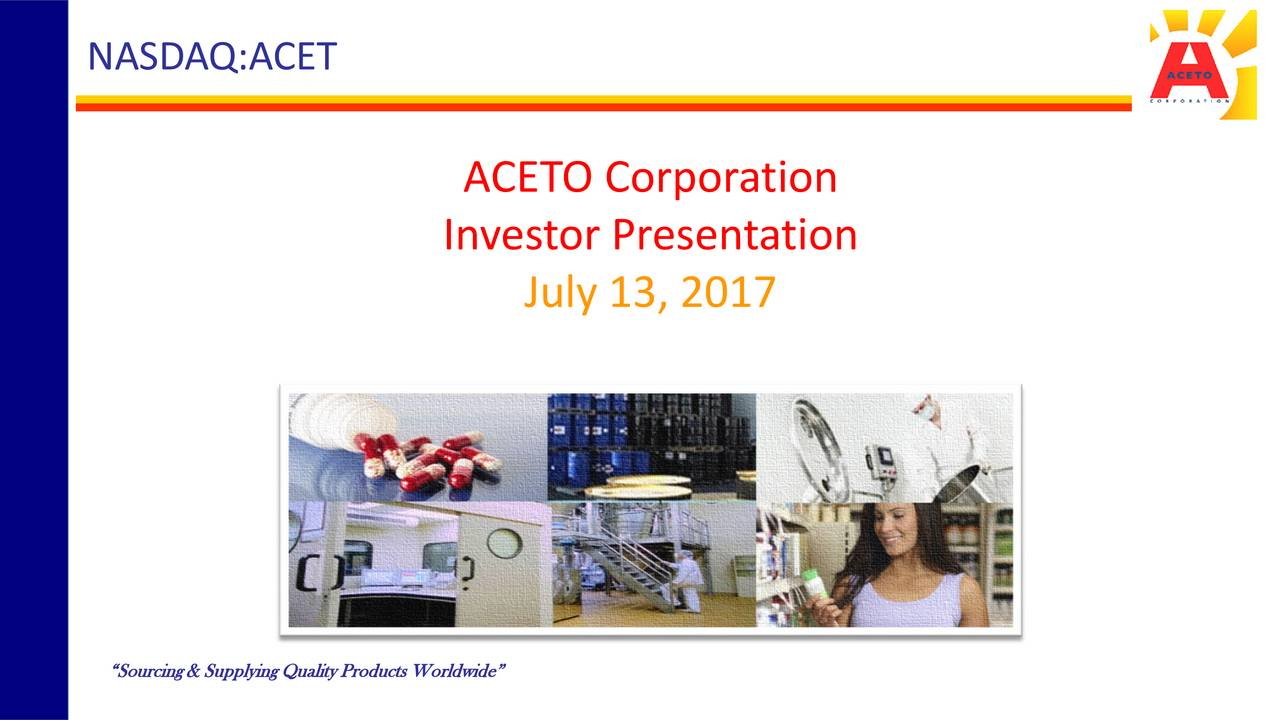 Aceto (ACET) Presents At Singular Summer Solstice Conference