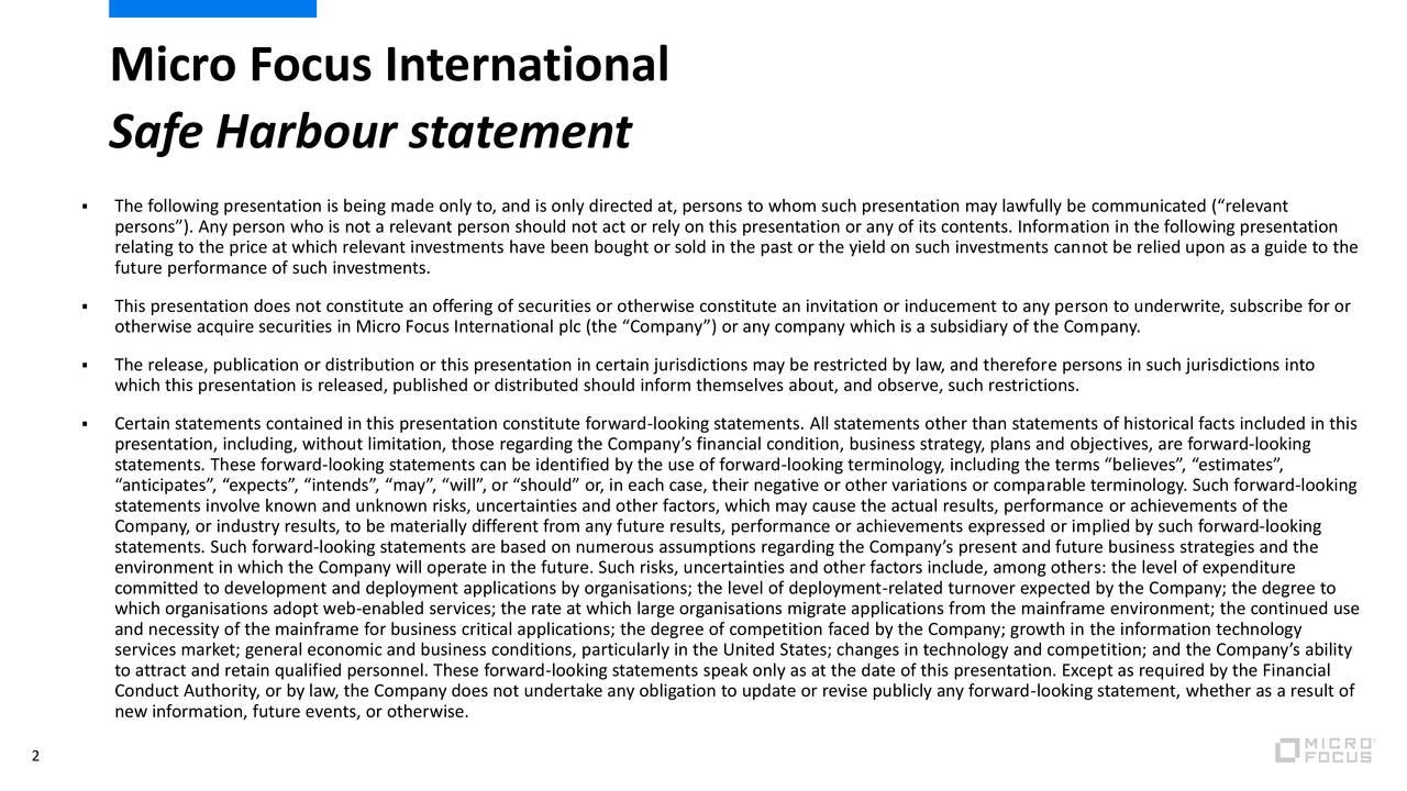 Micro Focus International