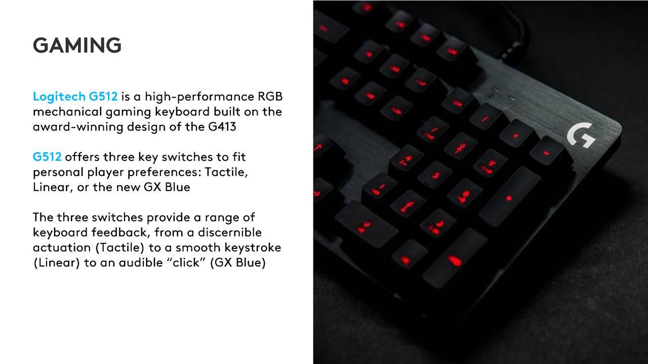 Logitech International Sa 2019 Q1 Results Earnings Call Slides G512 Rgb Mechanical Gaming Keyboard Gx Blue Nasdaqlogi Seeking Alpha
