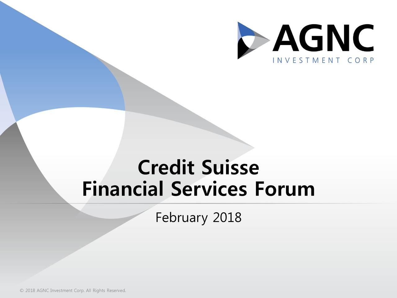 AGNC Investment (AGNC) Presents At Credit Suisse 19th Annual