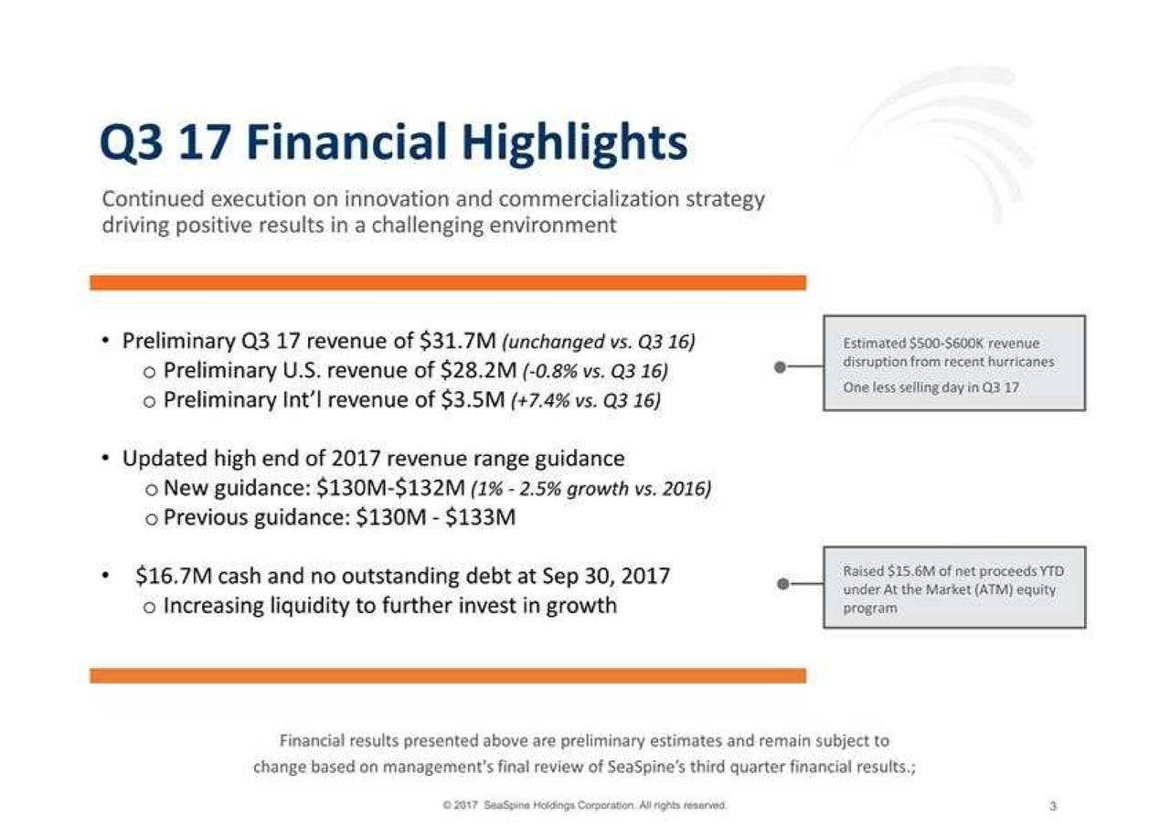 SeaSpine (SPNE) Investor Presentation - Slideshow - SeaSpine