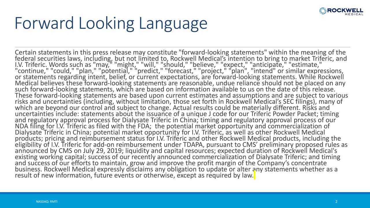 Forward Looking Language