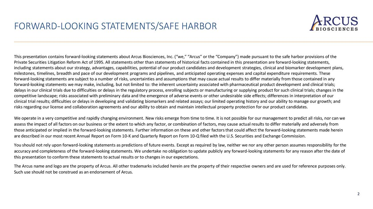 FORWARD-LOOKING STATEMENTS/SAFE HARBOR