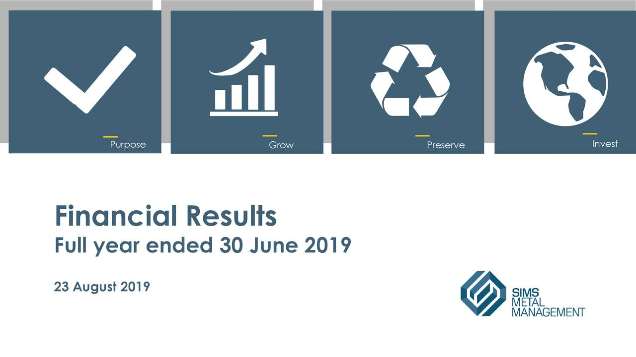Sims Metal Management Limited 2019 Q4 - Results - Earnings Call Slides