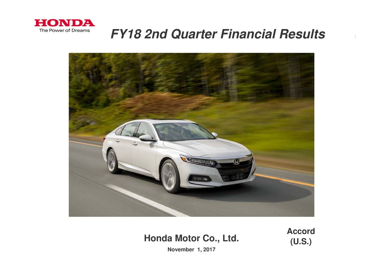 honda motor co ltd Honda motor co, ltd reserves the right, however, to discontinue or change specifications or design at any time without notice and without incurring any obligation.