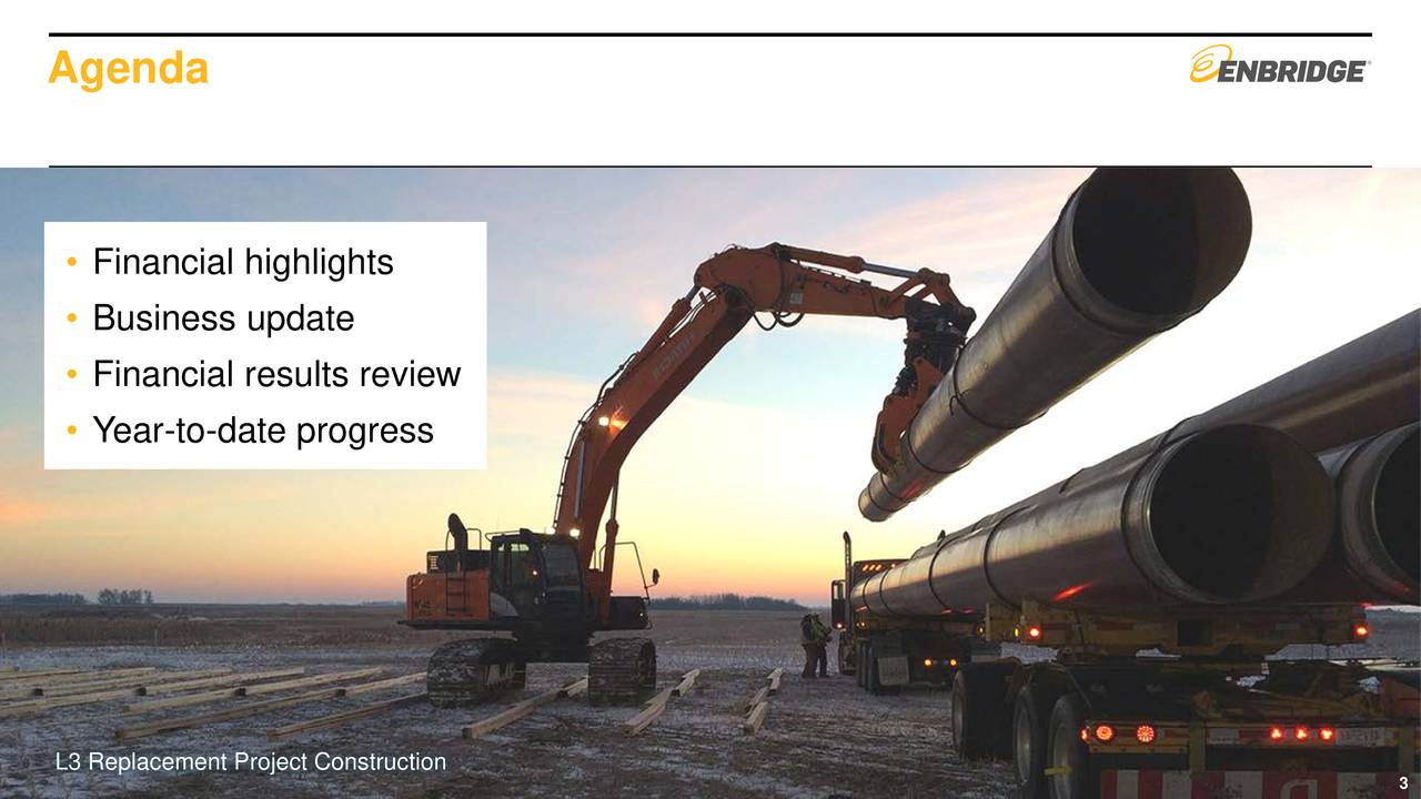 • Financial highlights • Business update • Financial results review • Year-to-date progress L3 Replacement Project Construction