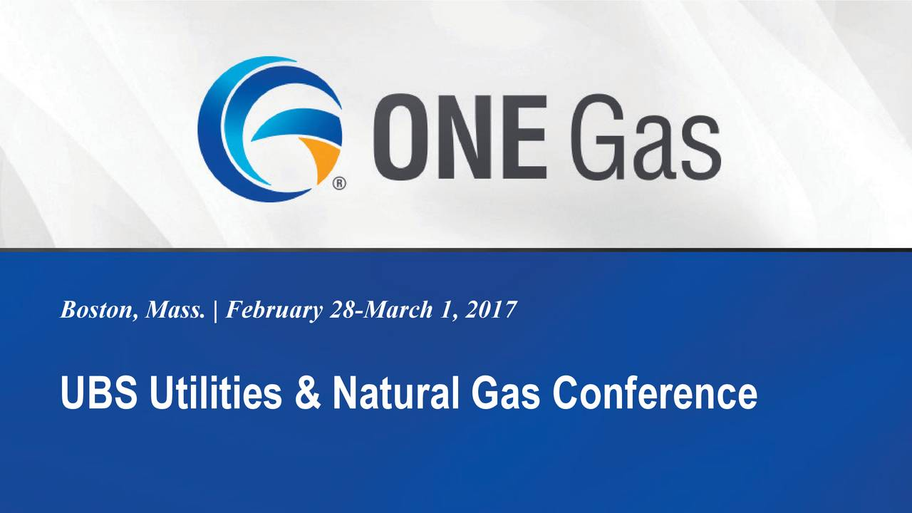 UBS Utilities & Natural Gas Conference