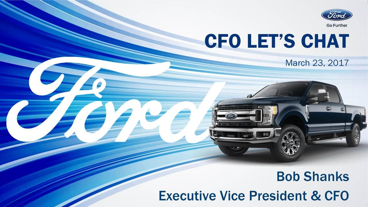 Ford F Investor Presentation Slideshow Nyse F Seeking Alpha