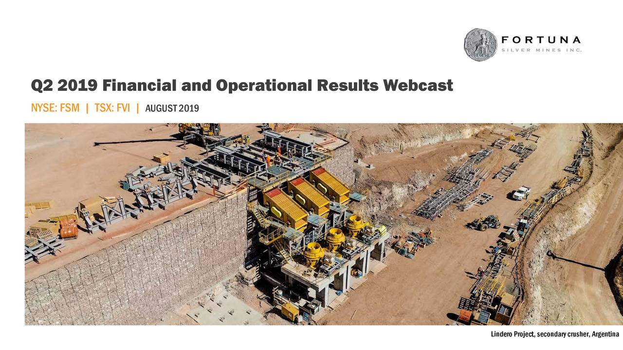 Q2 2019 Financial and Operational Results Webcast