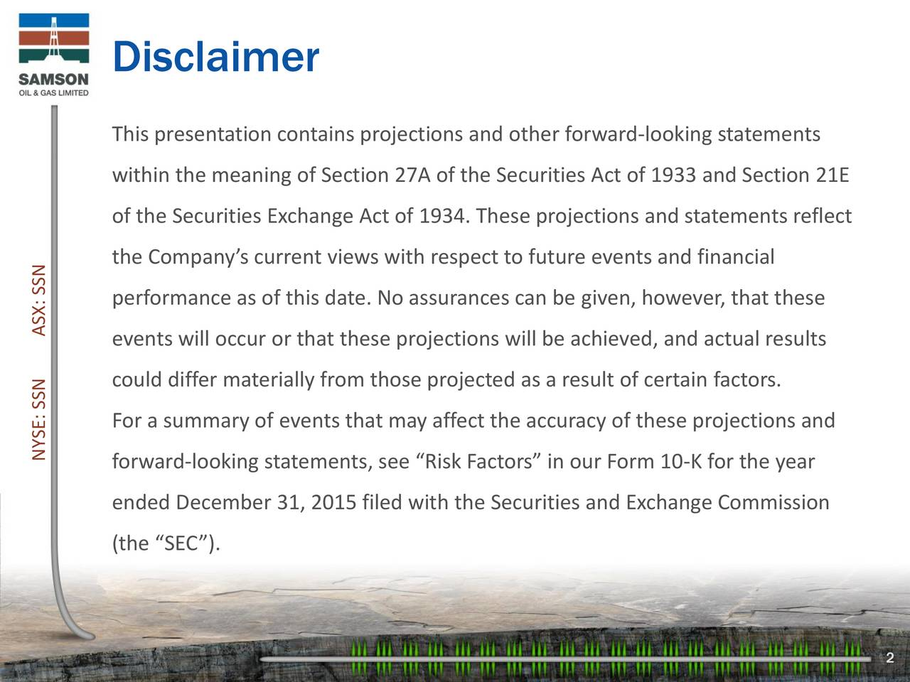 This presentation contains projections and other forward-looking statements within the meaning of Section 27A of the Securities Act of 1933 and Section 21E of the Securities Exchange Act of 1934. These projections and statements reflect the Companys current views with respect to future events and financial performance as of this date. No assurances can be given, however, that these events will occur or that these projections will be achieved, and actual results could differ materially from those projected as a result of certain factors. For a summary of events that may affect the accuracy of these projections and NYSE: Sforward-looking statements, see Risk Factors in our Form 10-K for the year ended December 31, 2015 filed with the Securities and Exchange Commission (the SEC). 2