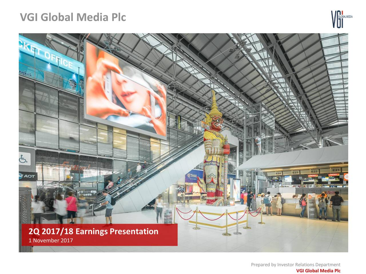 2Q 2017/18 Earnings Presentation 1 November 2017 Prepared by Investor Relations Department