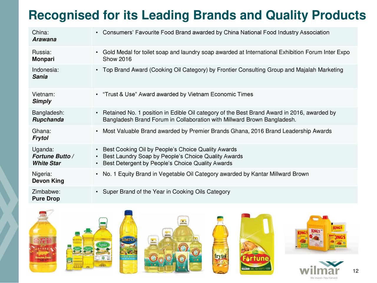 Wilmar International (WLMIF) Investor Presentation