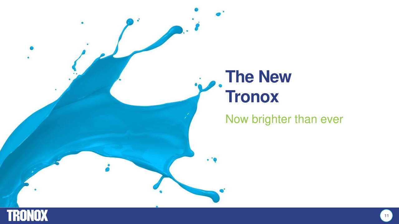 Tronox Limited (TROX) Completes Cristal TiO2 Acquisition