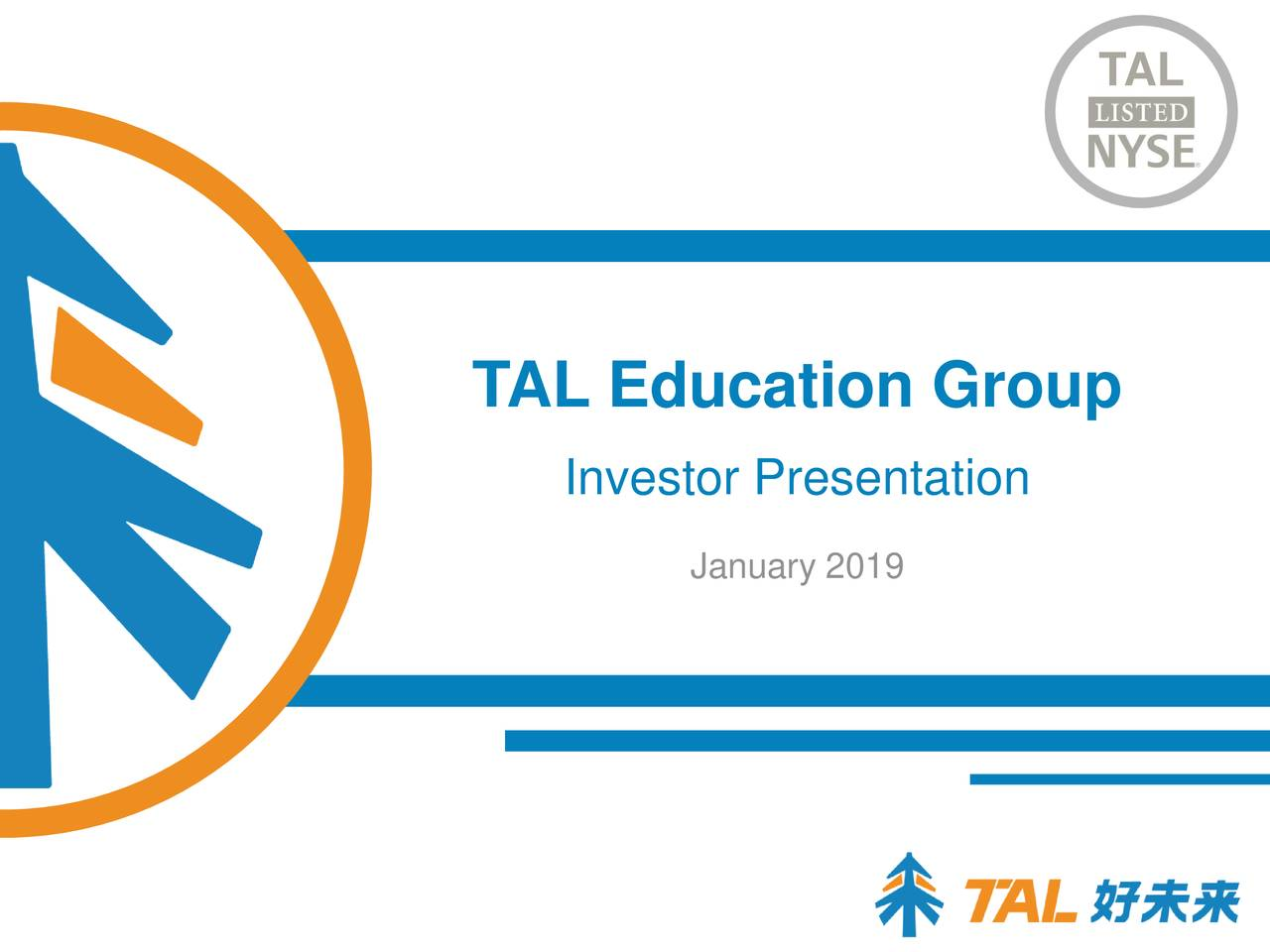Education Group Investor Presentation January 2019