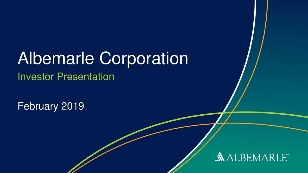 Investor Presentation February 2019