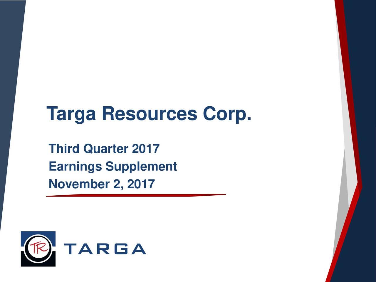 Third Quarter 2017 Earnings Supplement November 2, 2017