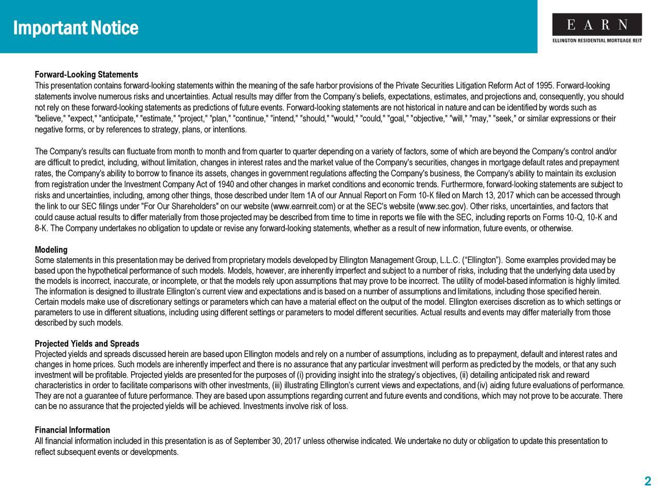 Ellington Residential Mortgage REIT 2017 Q3 - Results - Earnings Call Slides - Ellington ...