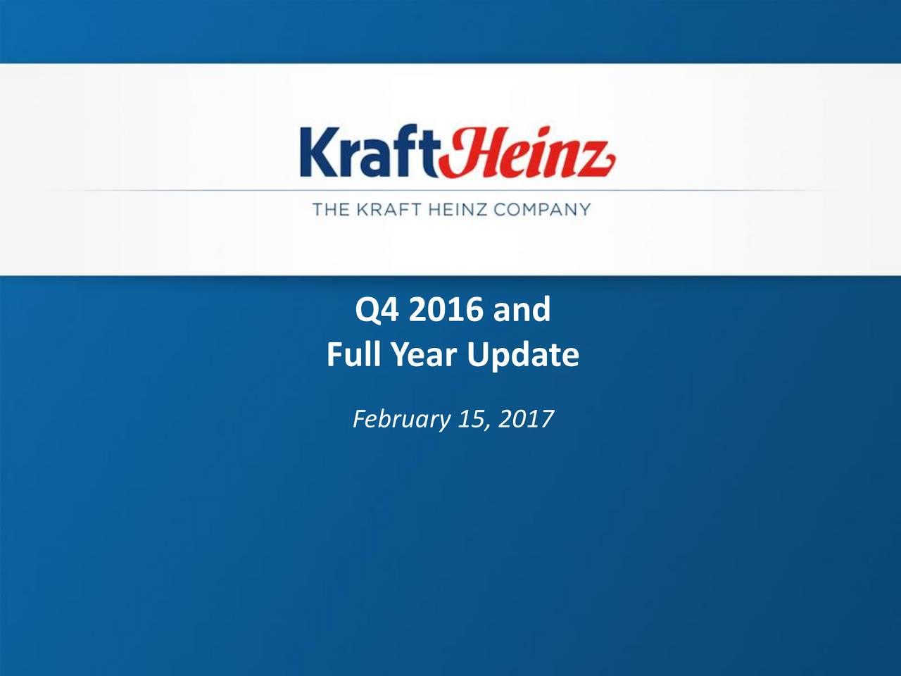 Full Year Update February 15, 2017
