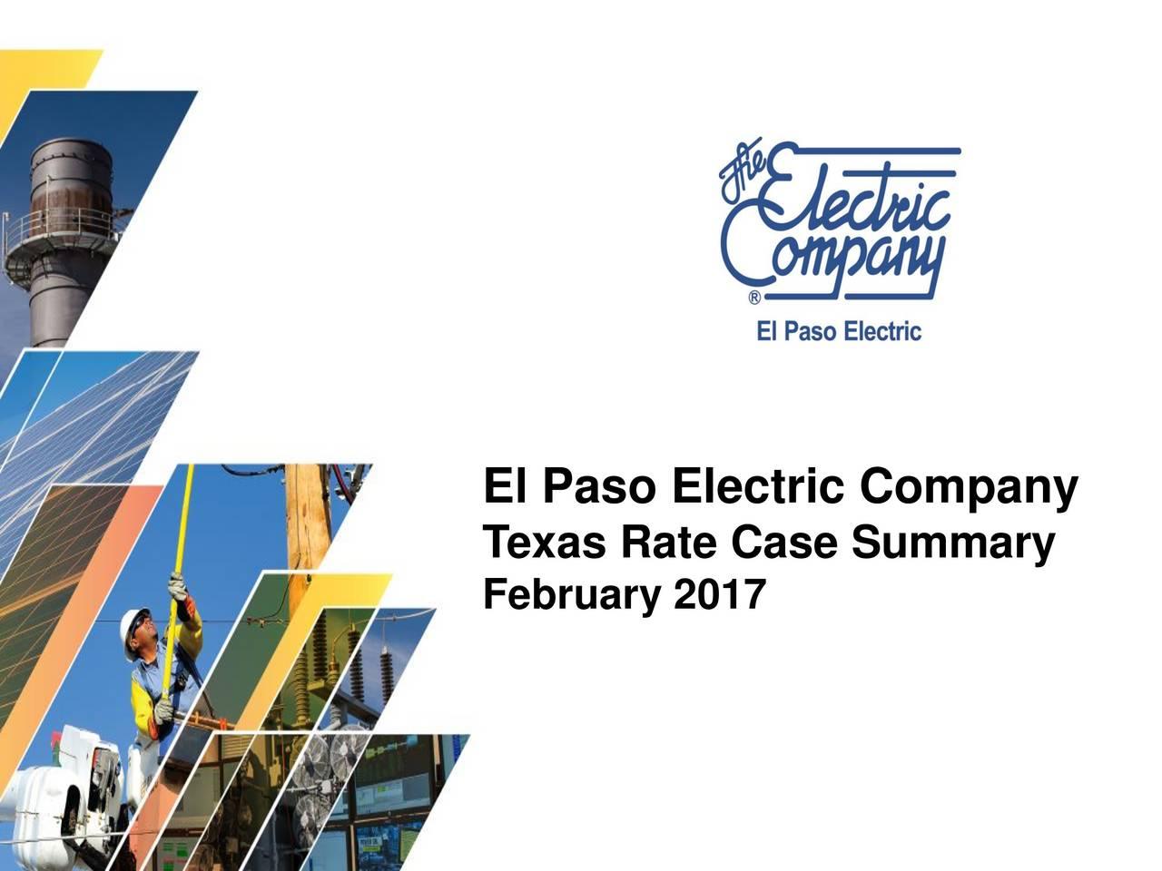 Texas Rate Case Summary February 2017