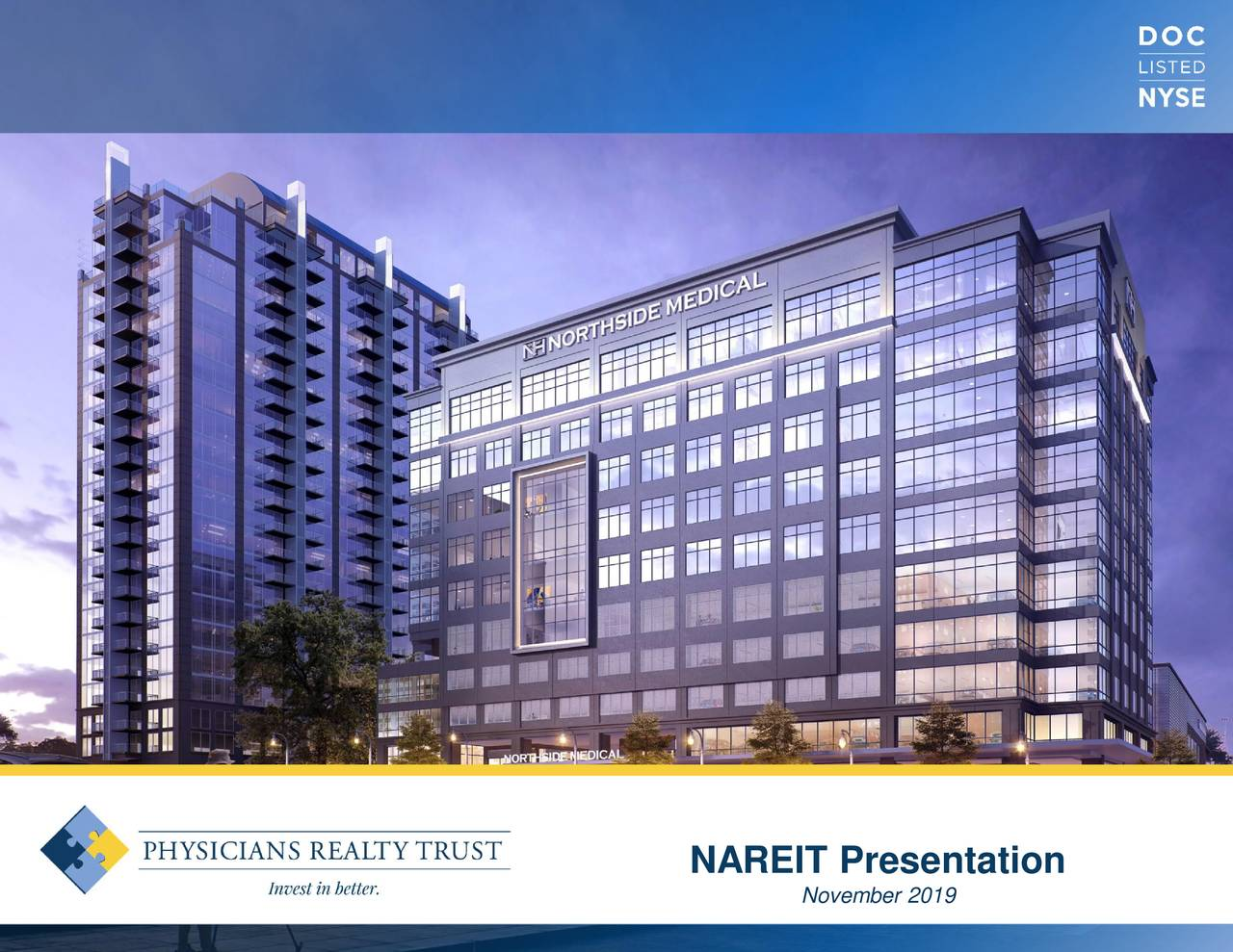 Physicians Realty Trust (DOC) Investor Presentation - Slideshow - Physicians Realty Trust (NYSE:DOC) | Seeking Alpha