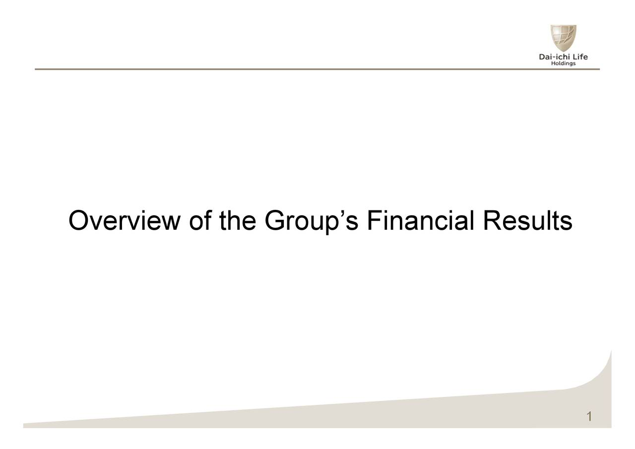 Overview of the Group's Financial Results