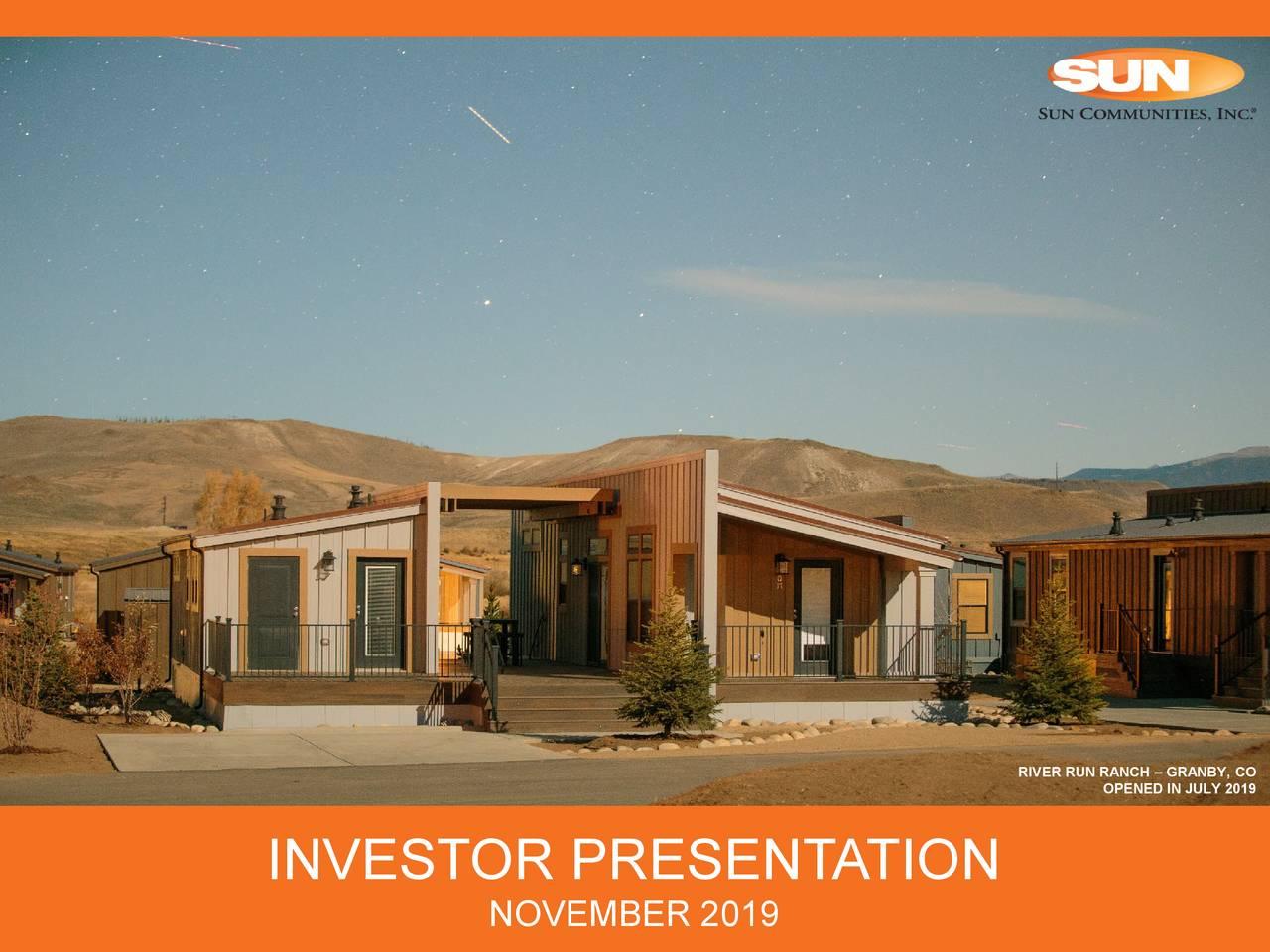 Sun Communities (SUI) Investor Presentation - Slideshow - Sun Communities, Inc. (NYSE:SUI) | Seeking Alpha