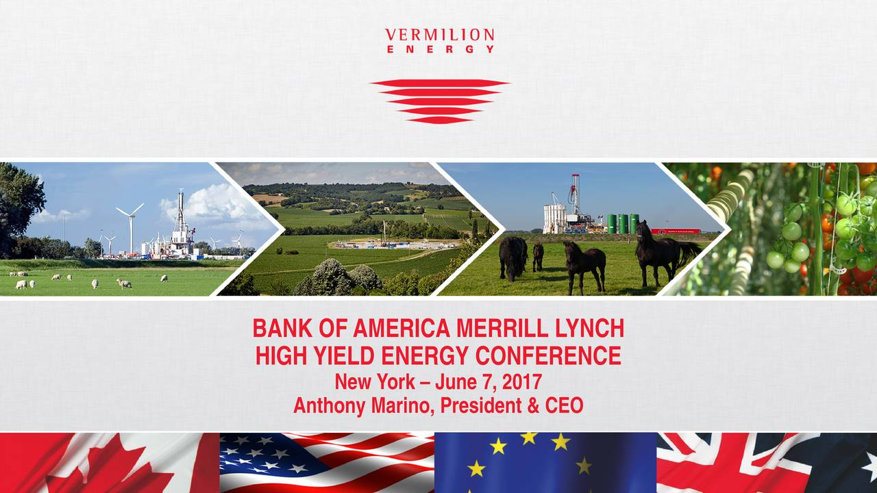 HIGH YIELD ENERGY CONFERENCE New York  June 7, 2017 Anthony Marino, President & CEO