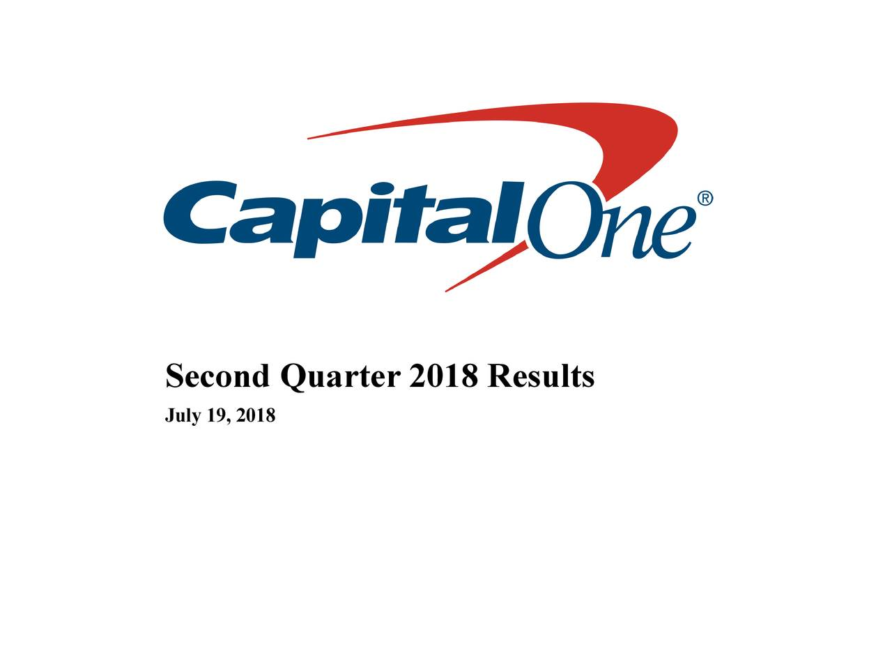 capital one executive office phone number Capital One Financial Corporation 2018 Q2 - Results - Earnings Call ...