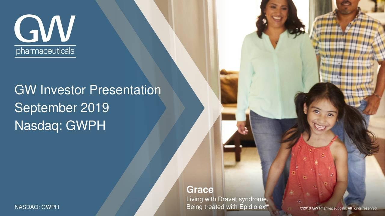 GW Pharmaceuticals (GWPH) Investor Presentation - Slideshow