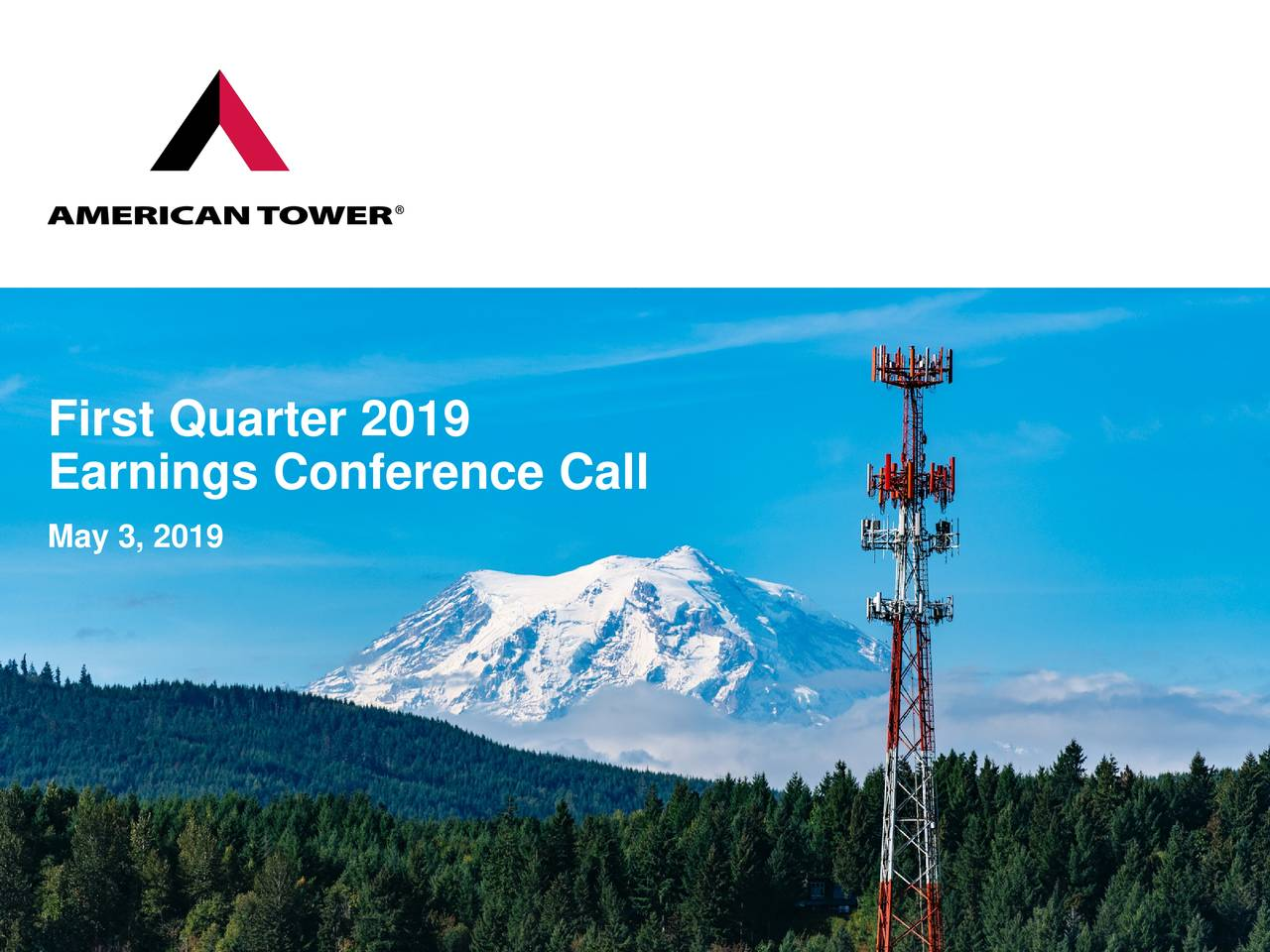 Earnings Conference Call May 3, 2019