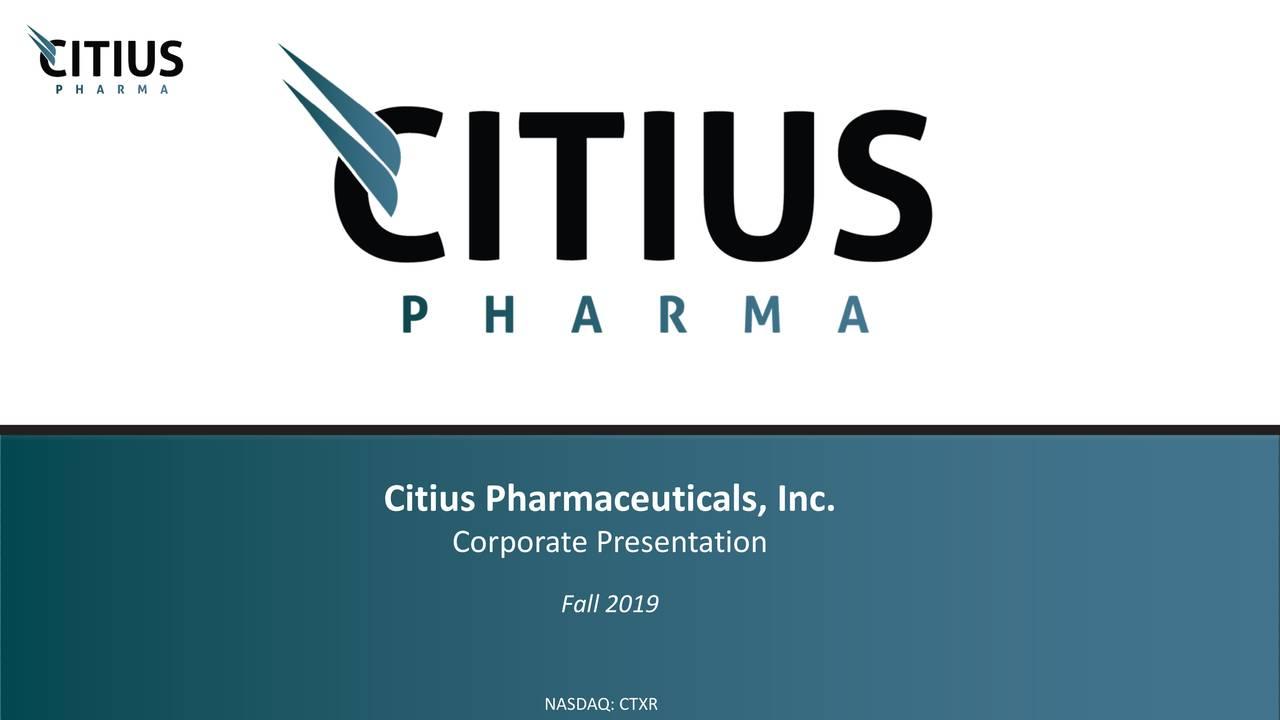 CTXR Short Interest / Citius Pharmaceuticals Inc