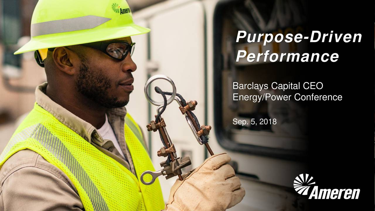 Performance Barclays Capital CEO Energy/Power Conference Sep. 5, 2018