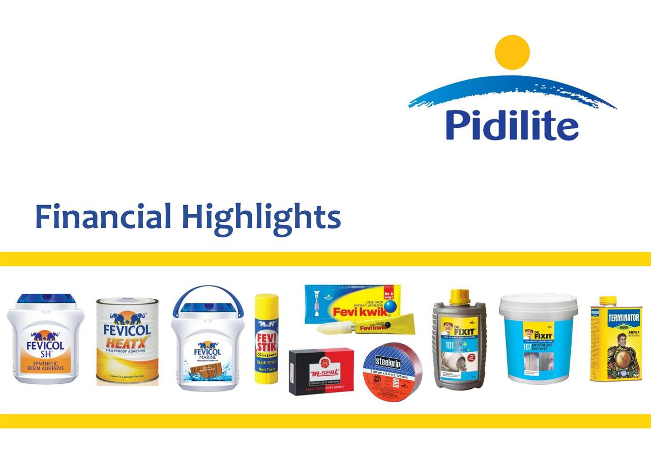 Pidilite Industries Ltd Adr 2018 Q3 Results Earnings Call Slides Otcmkts Pdlty Seeking Alpha